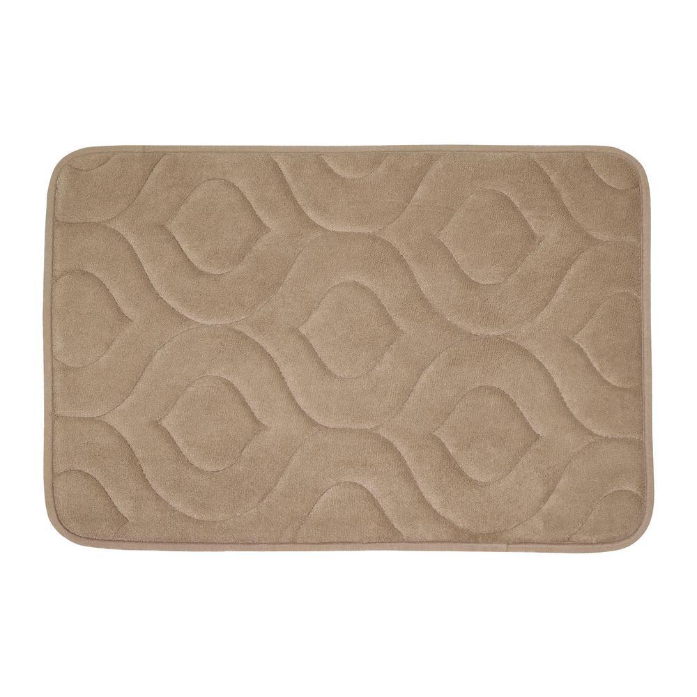 Naoli Linen 20 in. x 34 in. Memory Foam Bath Mat