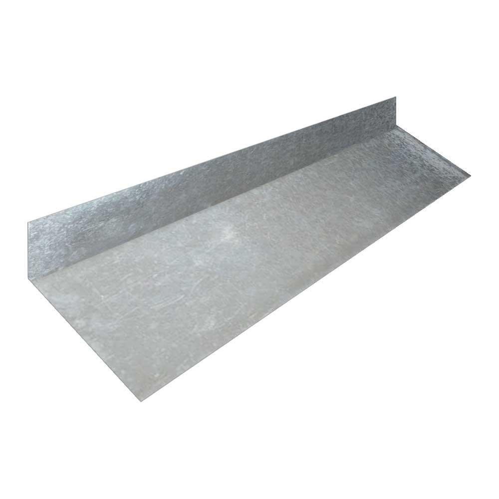 construction metals 2 in x 6 in x 10 ft galvanized steel roof - Roof To Wall Flashing