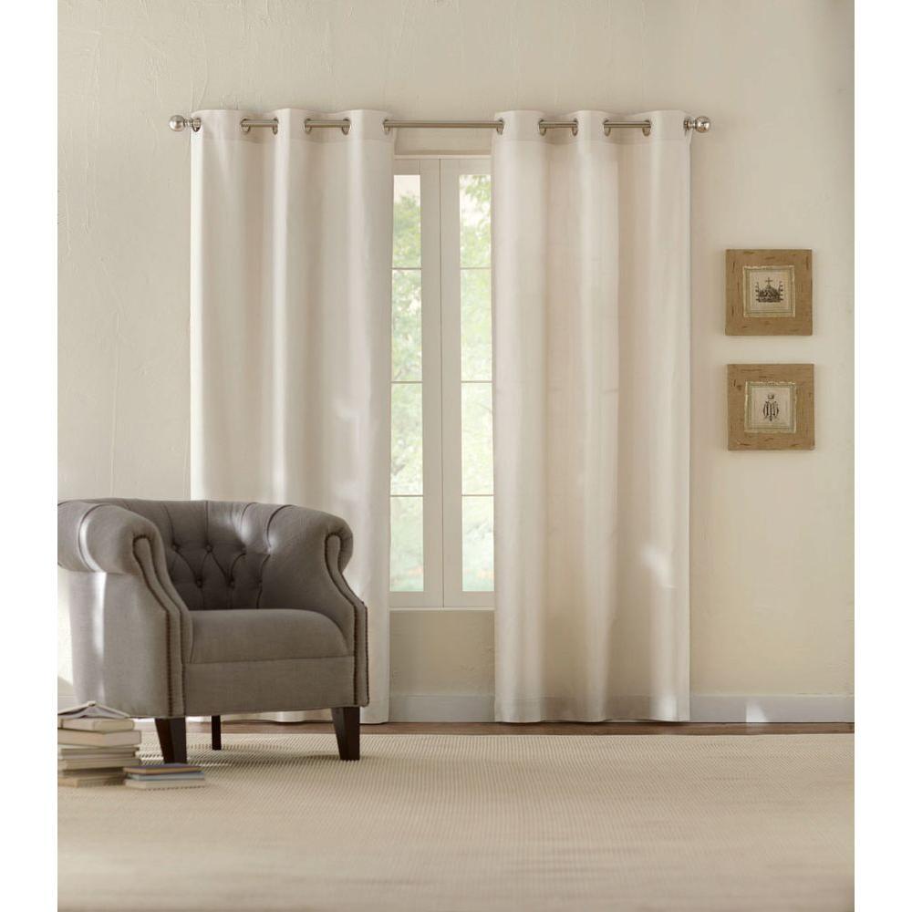 Semi-Opaque Cotton Duck Natural Grommet Curtain