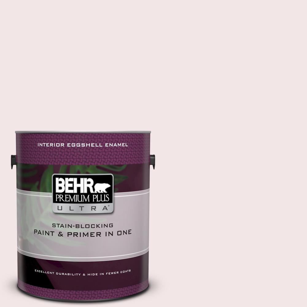 BEHR Premium Plus Ultra 1 gal. #120A-1 Light Chiffon Eggshell Enamel Interior Paint and Primer in One