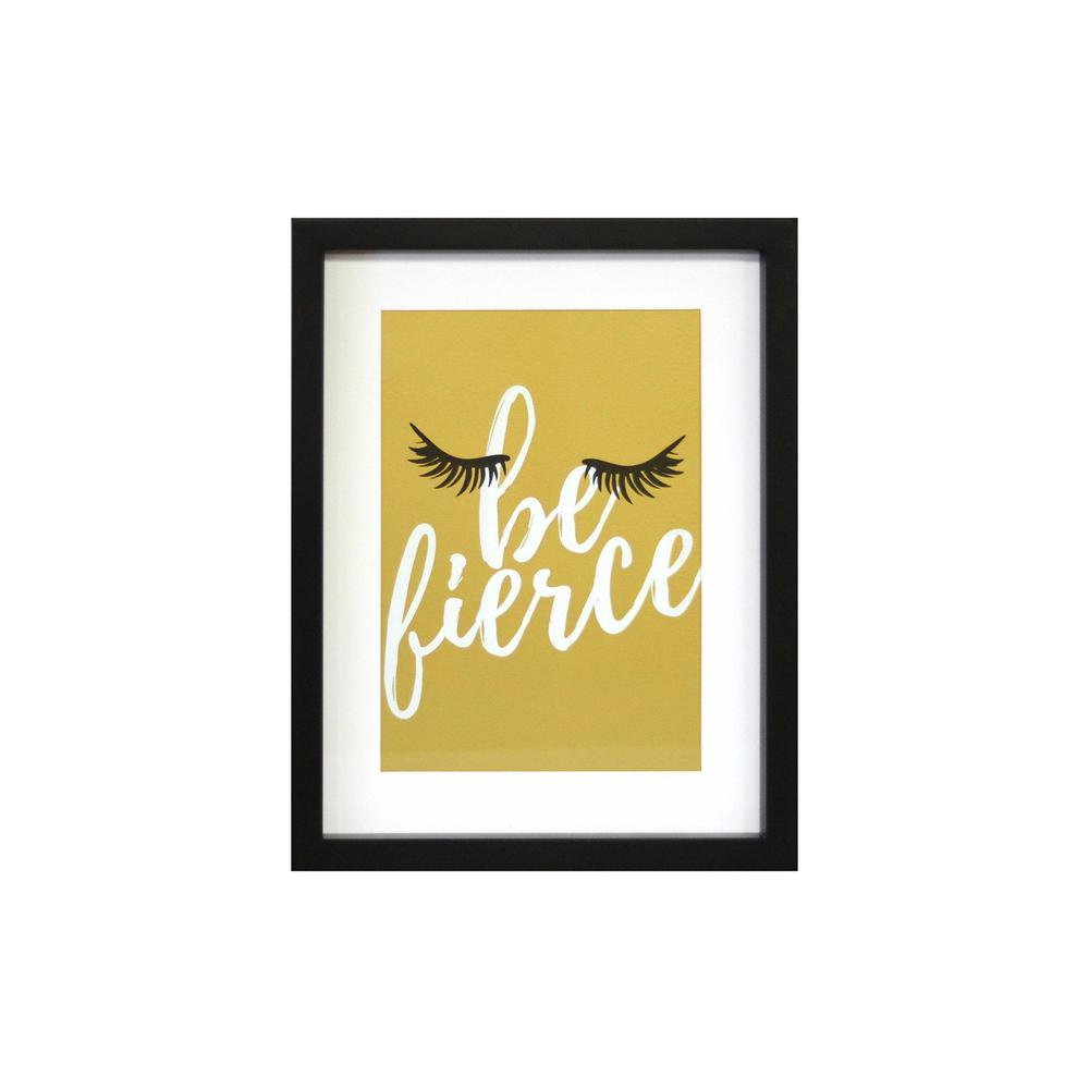 Linden Ave 11 in. x 14 in. Be Fierce 1-Piece Framed Artwork with Mat ...