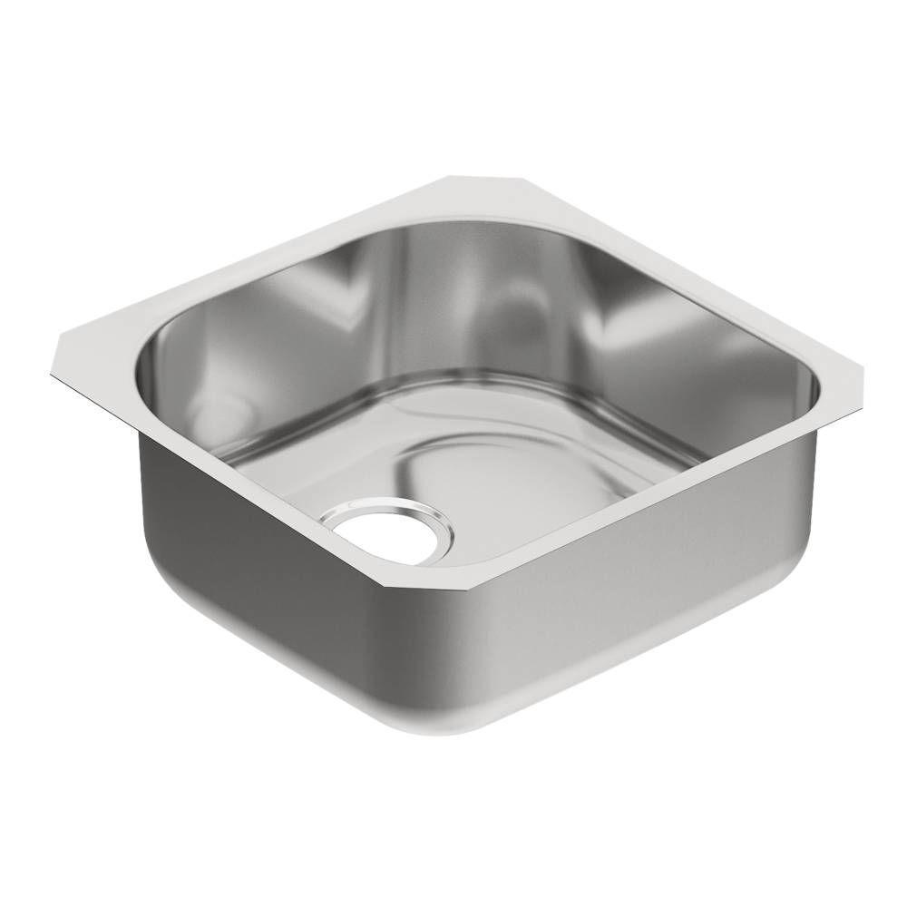 Moen 1800 Series Undermount Stainless Steel 20 In Single Basin Kitchen Sink