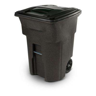 Outdoor Trash Can With Wheels Mesmerizing With Lid Toter Outdoor Trash Cans Trash Recycling The