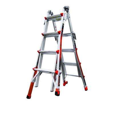 Revolution 17 ft. Aluminum Multi-Use Ladder with Ratcheting Levelers 300 lbs. Load Capacity Type IA