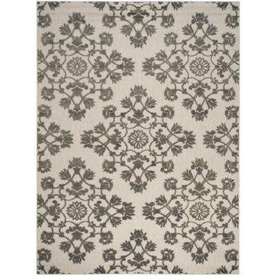 Cottage Cream/Gray 9 ft. x 12 ft. Indoor/Outdoor Area Rug