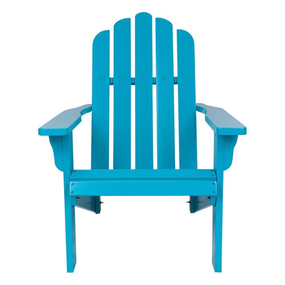 Marina Cedar Wood Adirondack Chair - Turquoise