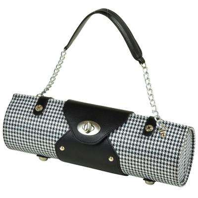 Houndstooth Wine Carrier and Purse