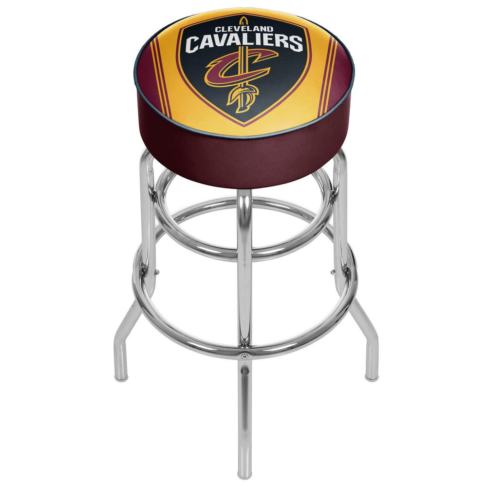 Cleveland Cavaliers NBA 31 in. Chrome Padded Swivel Bar Stool