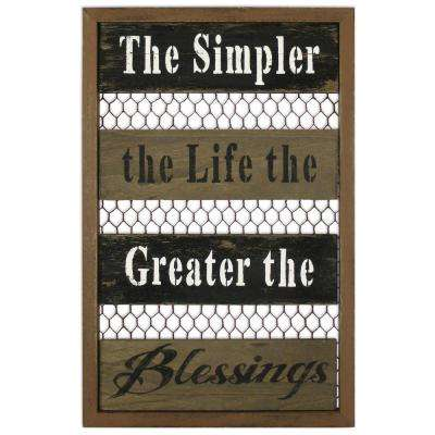 18 in. Blessings Sign