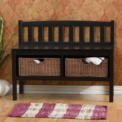 Westville Black Storage Bench