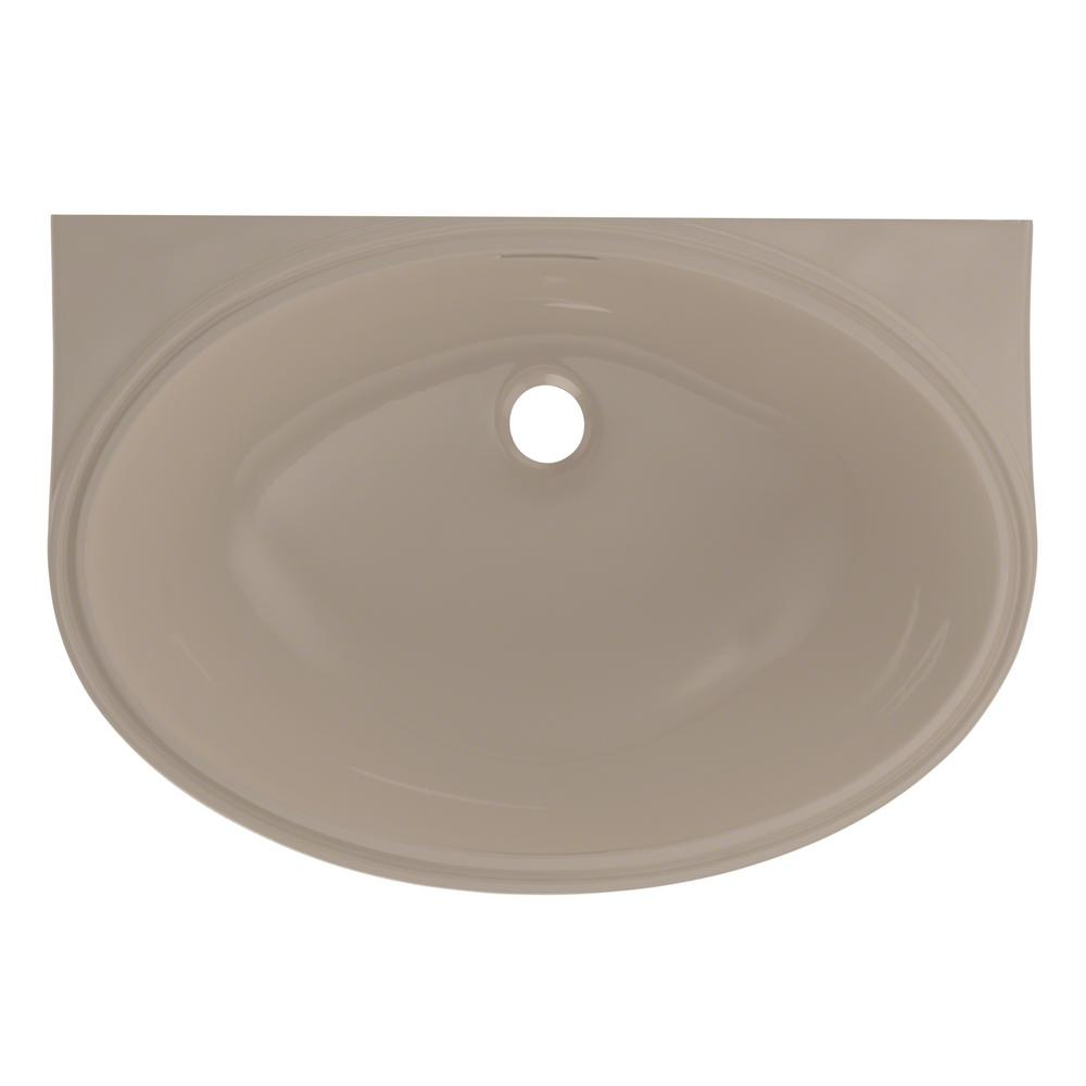 toto 22 in oval undermount bathroom sink with cefiontect 20996