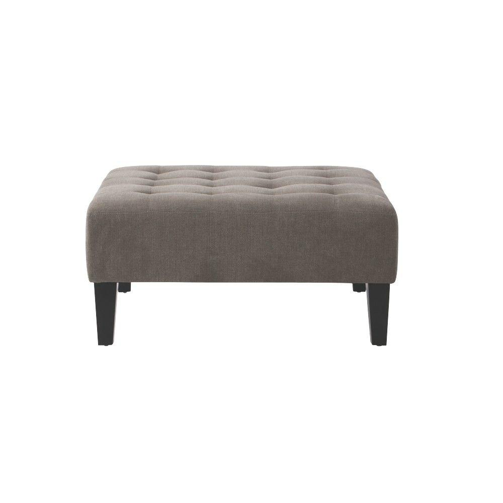Home Decorators Collection Zane Charcoal Accent Ottoman