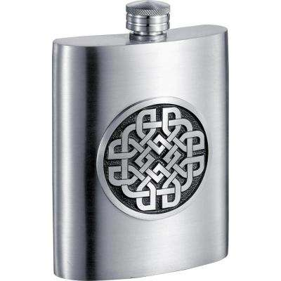 Aragon Celtic Design Pewter Liquor Flask
