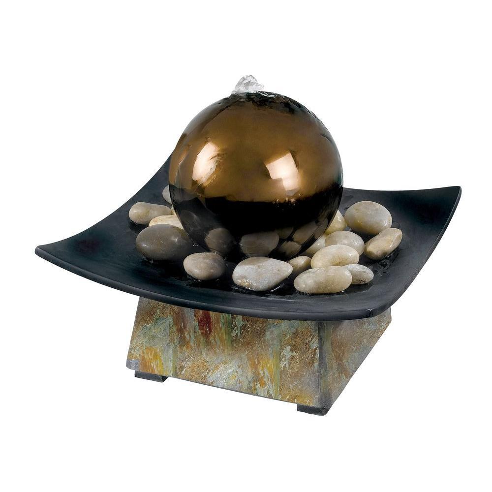 Kenroy Home Sphere Indoor 8 in. Tabletop Fountain-50235SL - The ...