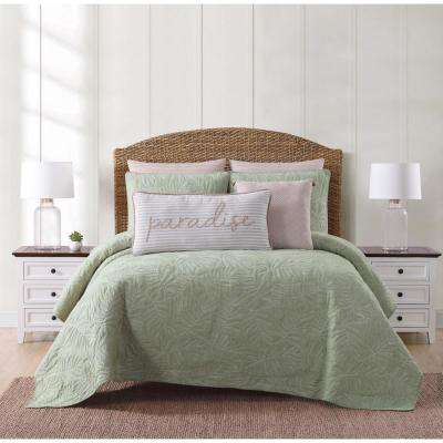 Chambray Coast Green Full and Queen Quilt Set