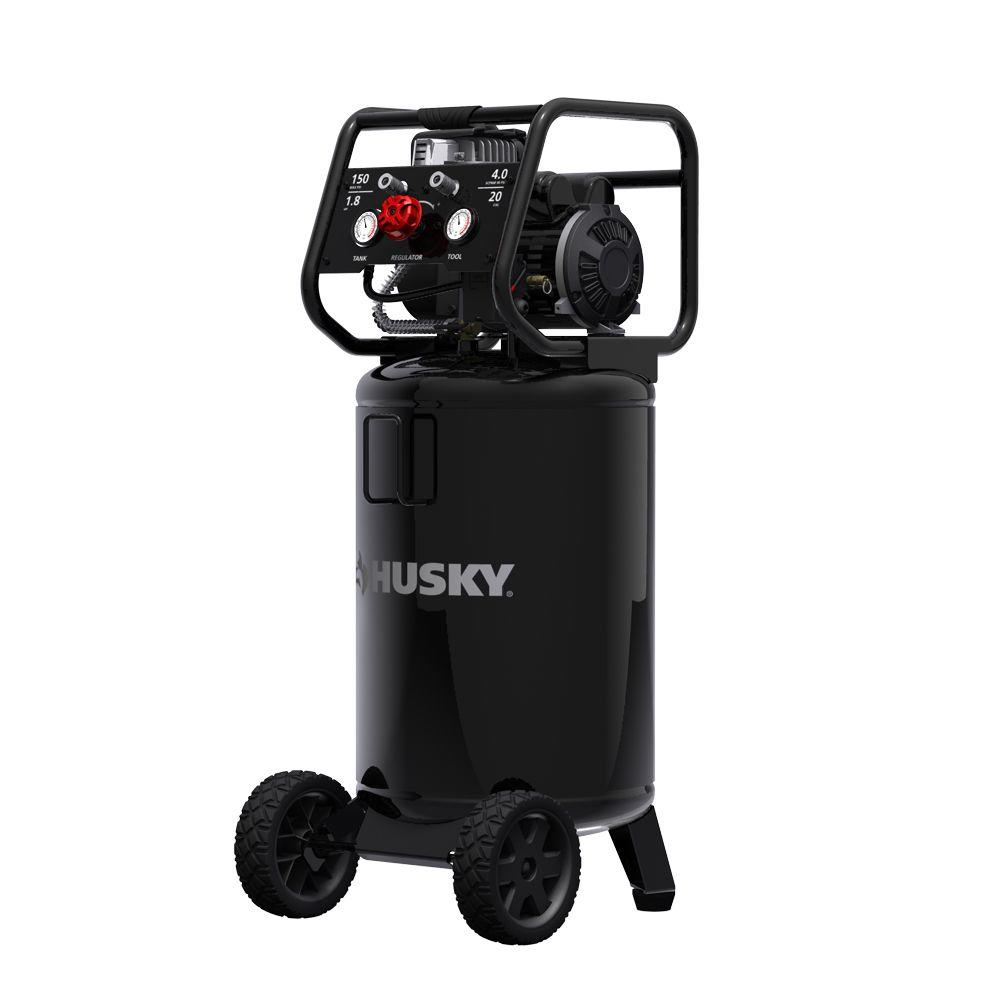 20 Gal. Vertical Oil Free Electric Air Compressor