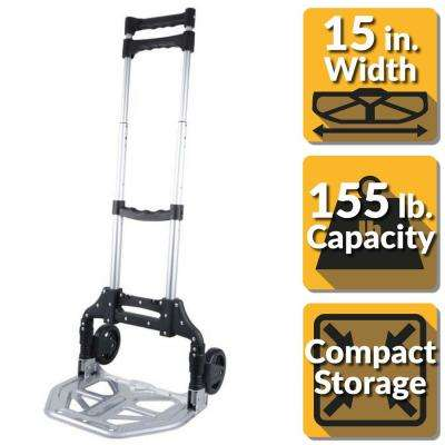 Pack-N-Roll 150 lb. Folding Hand Truck with Steel Toe Plate