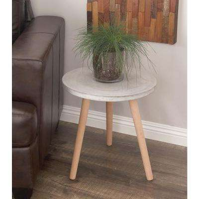Wood Fiber Clay Table in Light Gray