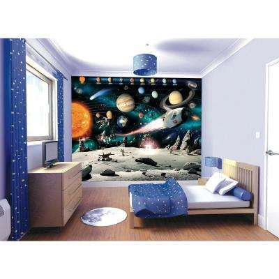 120 in. H x 96 in. W Space Adventure Wall Mural