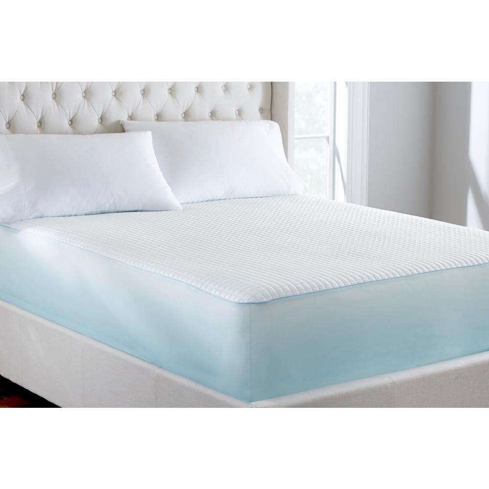 Home Decorators Collection Extreme Cool White Queen Mattress Protector