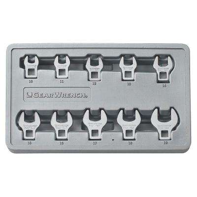 Metric Crowfoot Wrench Set (10-Piece)