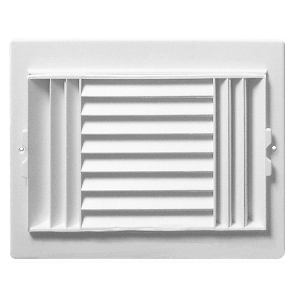 10 In X 8 In Plastic Ceiling Register In White Rgc108