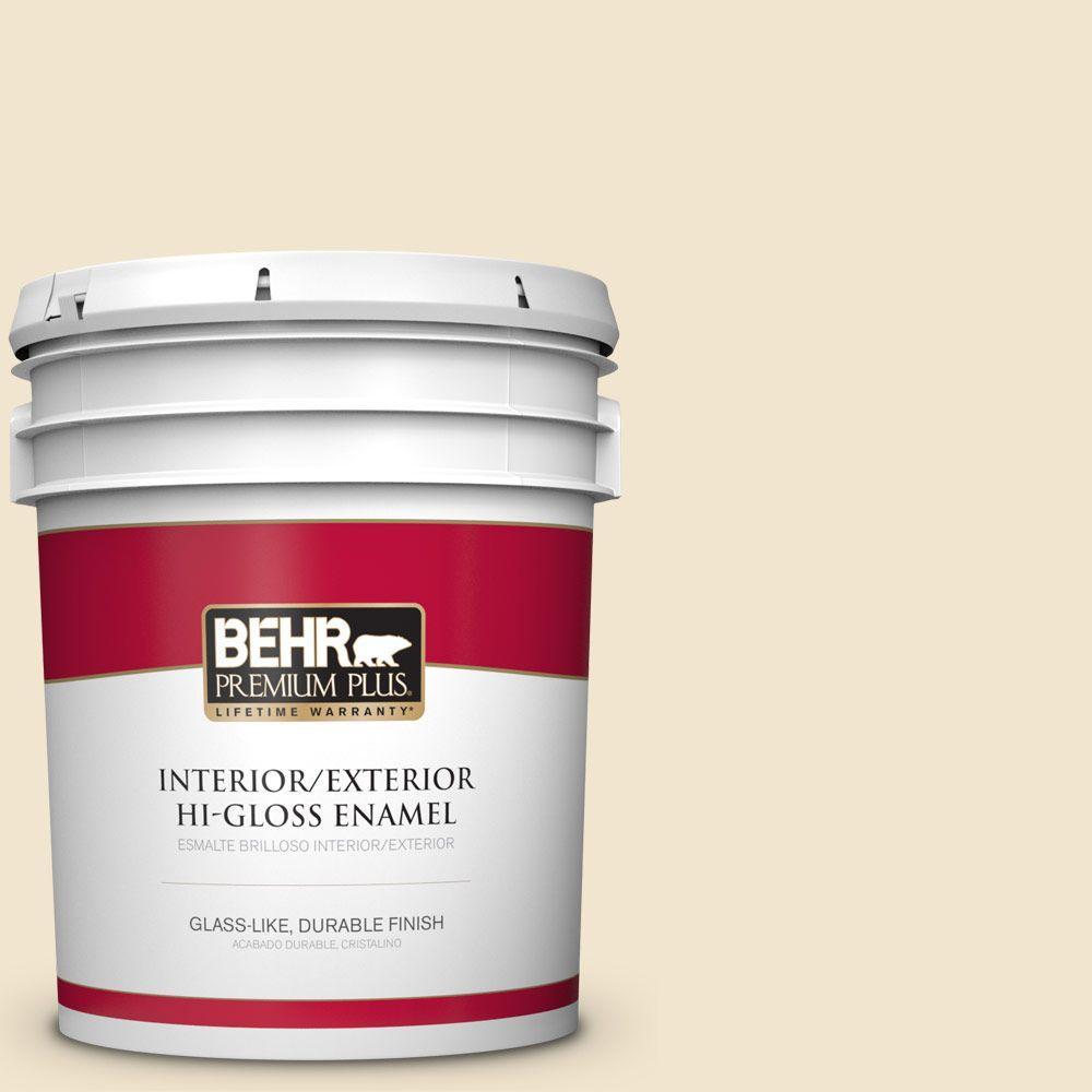 5 gal. #HDC-NT-11A Warm Marshmallow Hi-Gloss Enamel Interior/Exterior Paint