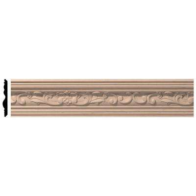 3-5/8 in. x 96 in. x 3-1/2 in. Unfinished Wood Maple Medway Carved Crown Moulding