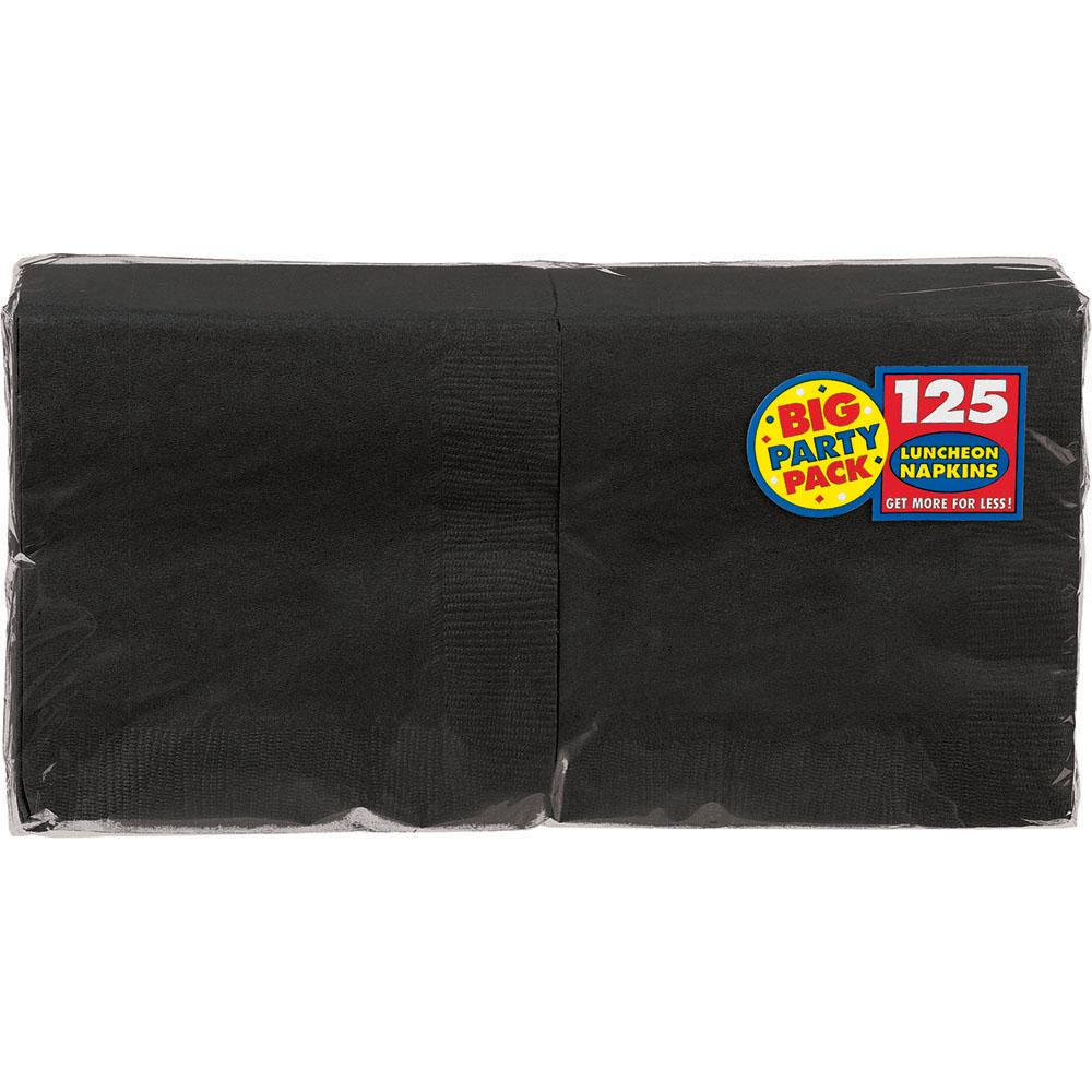 Big Party Pack 6.5 in. x 6.5 in. Black Paper Birthday