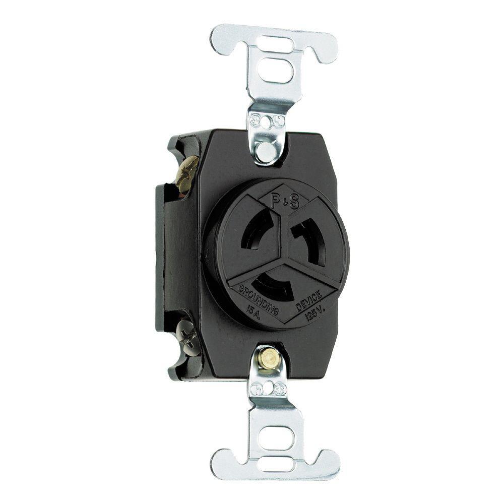 Pass & Seymour Turnlok 15 Amp 125-Volt NEMA L5-15R Locking Receptacle