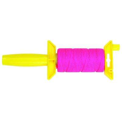#18 x 250 ft. Nylon Braided Mason Twine with Reloadable Winder, Pink