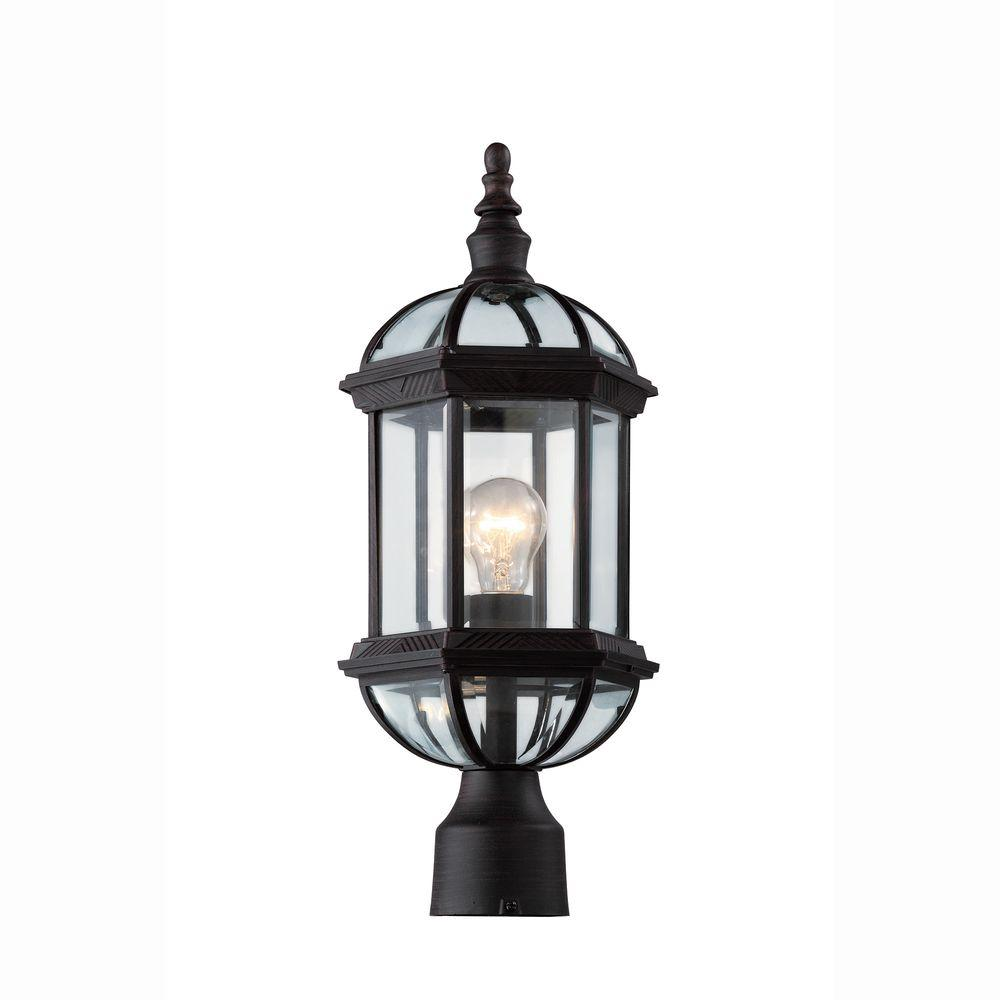 Bel air lighting atrium 1 light outdoor black post top lantern with bel air lighting atrium 1 light outdoor black post top lantern with clear glass aloadofball Gallery
