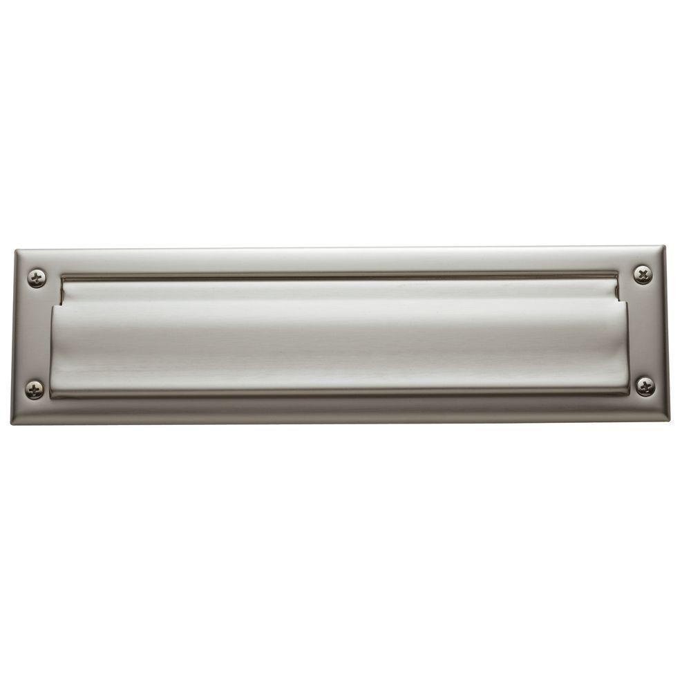 0012 Letter Box Plate, Satin Nickel