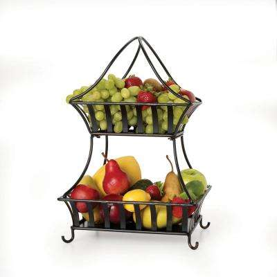 2-Tier Basket in Antique Black
