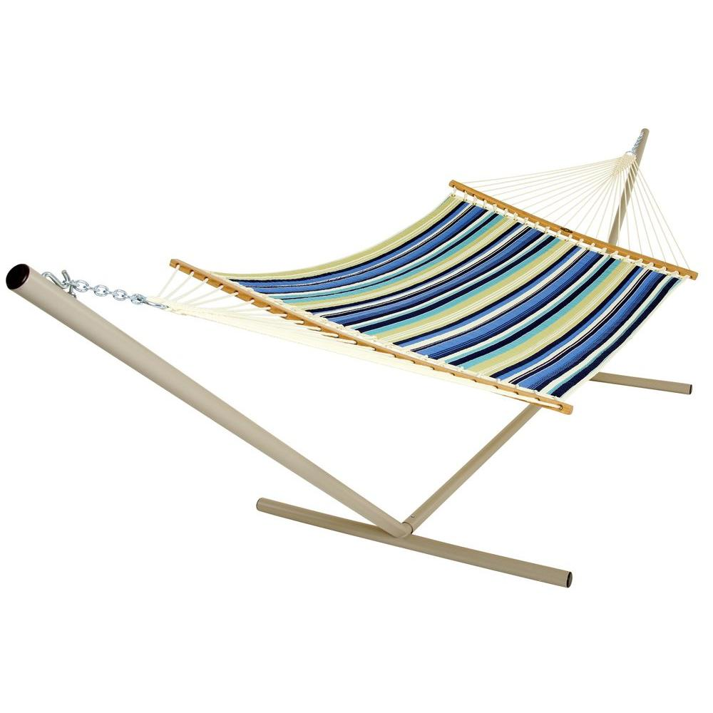 Pawleys Island 13 ft. DuraCord Quilted Hammock Beaches Collection Cabin Stripe Beaches
