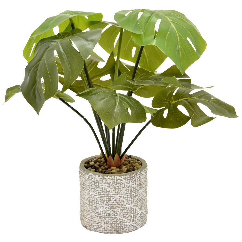 18 in. Faux Greenery in Flower Pot