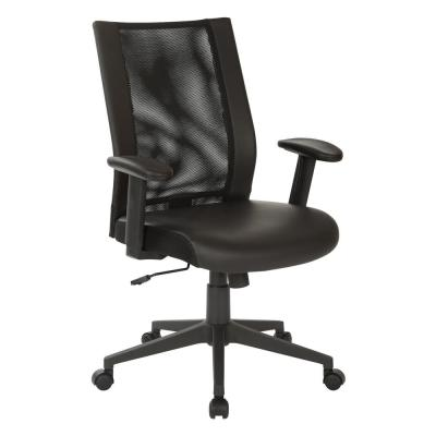 Black Mesh Manager's Chair with Angled Nylon Base
