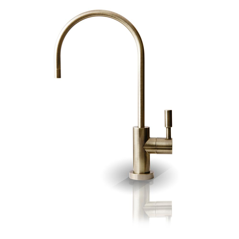 Single-Handle Beverage Faucet Lead Free Non-Air Gap in Antique Brass