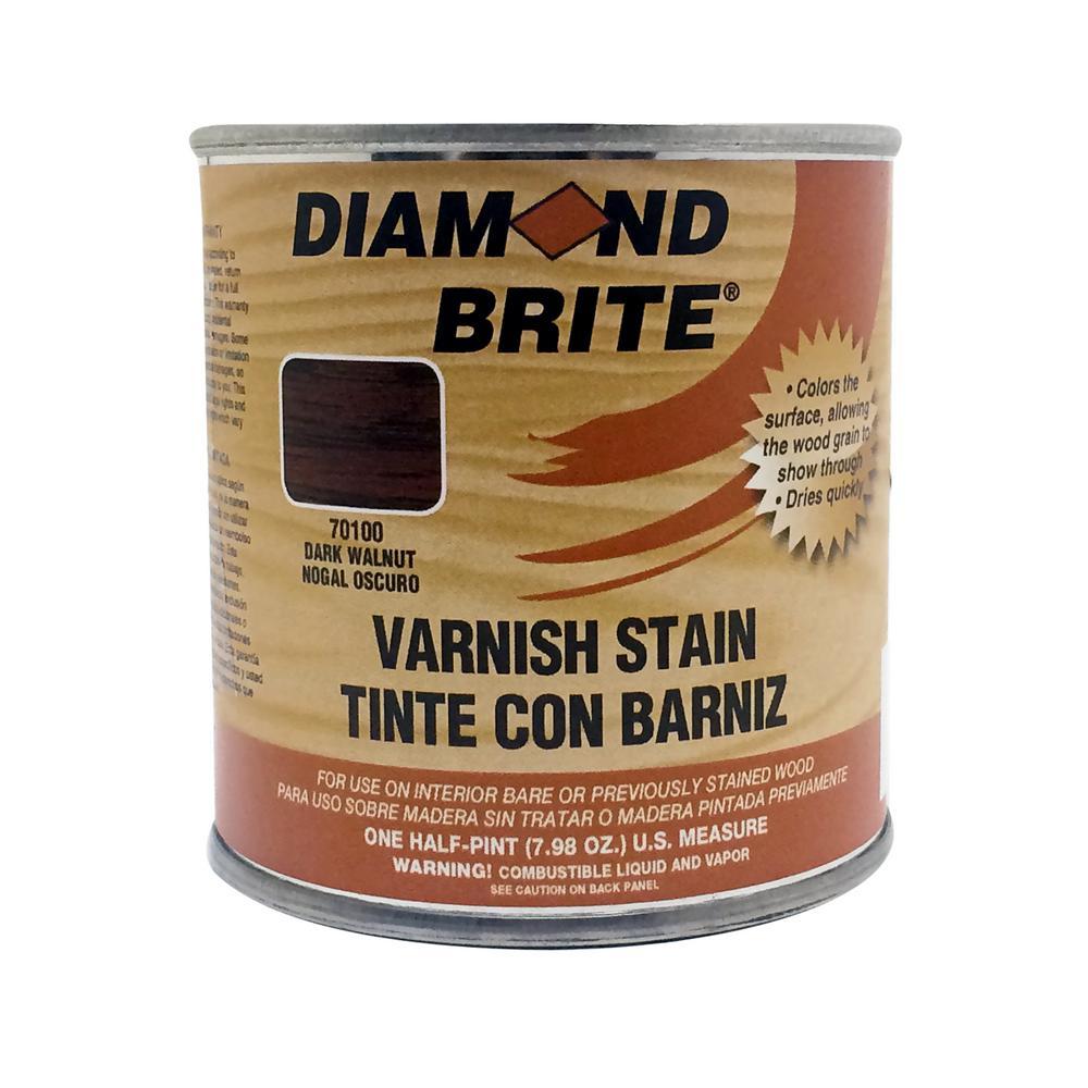 Diamond Brite Paint 1/2 pt. Dark Walnut Oil-Based Interior Varnish Stain