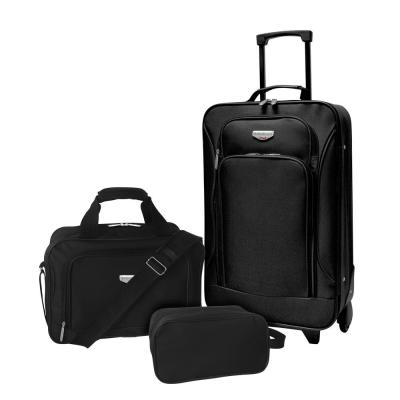 3-Piece Eva-Style Value Carry-On Luggage Set
