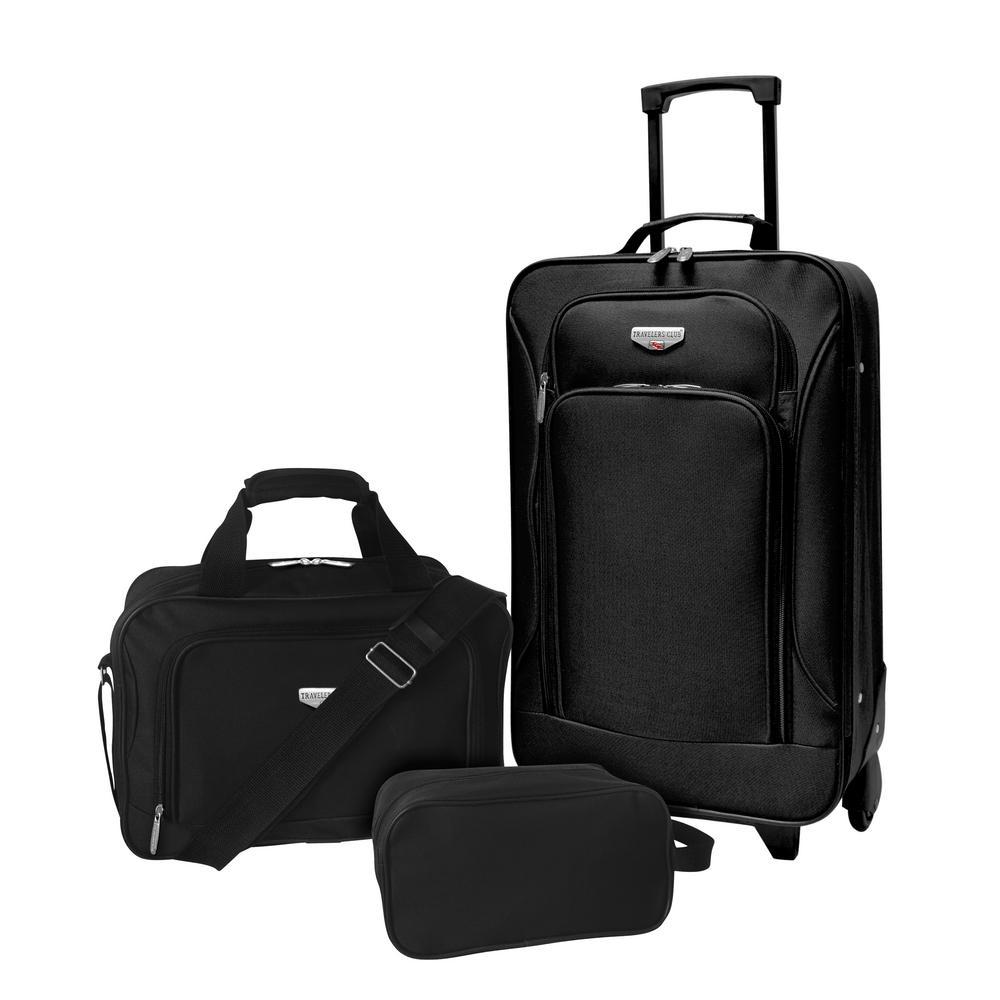 3-Piece Eva-Style Value Carry-On Luggage Set