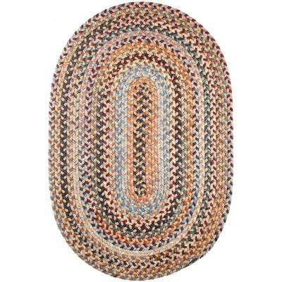 Annie Wheat Field 4 ft. x 6 ft. Oval Indoor Braided Area Rug