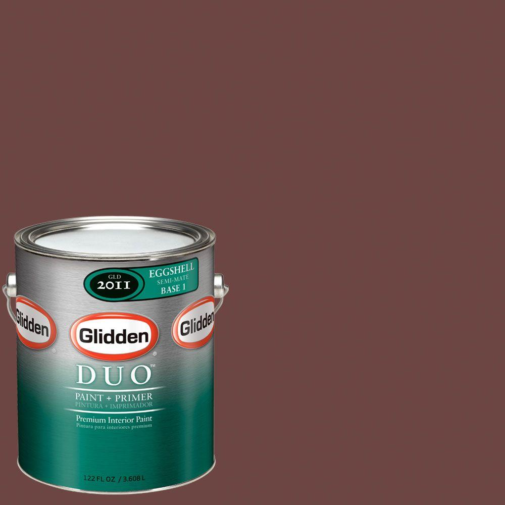 Glidden DUO Martha Stewart Living 1-gal. #MSL056-01E Chocolate Cosmos Eggshell Interior Paint with Primer-DISCONTINUED
