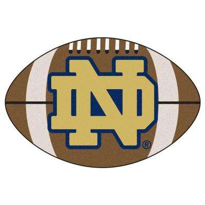 NCAA Notre Dame Fighting Irish Logo Brown 1 ft. 10 in. x 2 ft. 11 in. Specialty Accent Rug