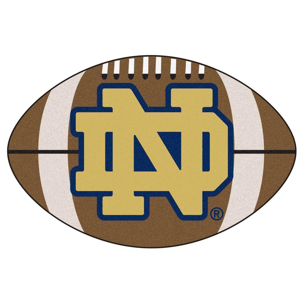 FANMATS NCAA Notre Dame Fighting Irish Logo Brown 2 Ft. X