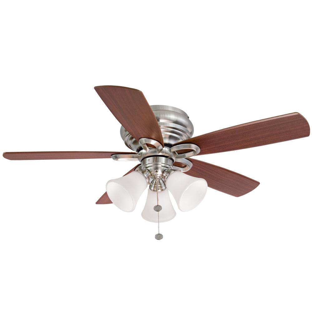 Hampton Bay Maris 44 in. LED Indoor Brushed Nickel Ceiling Fan Deals