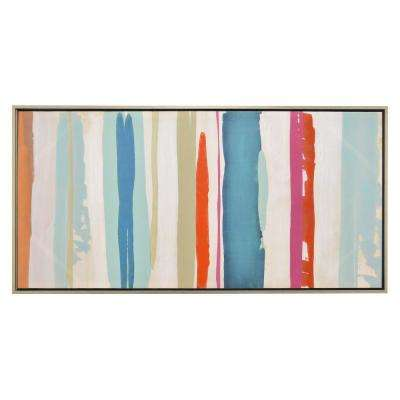 27.5 in. Painting with Frame in Oil on Canvas in Multi-Colored