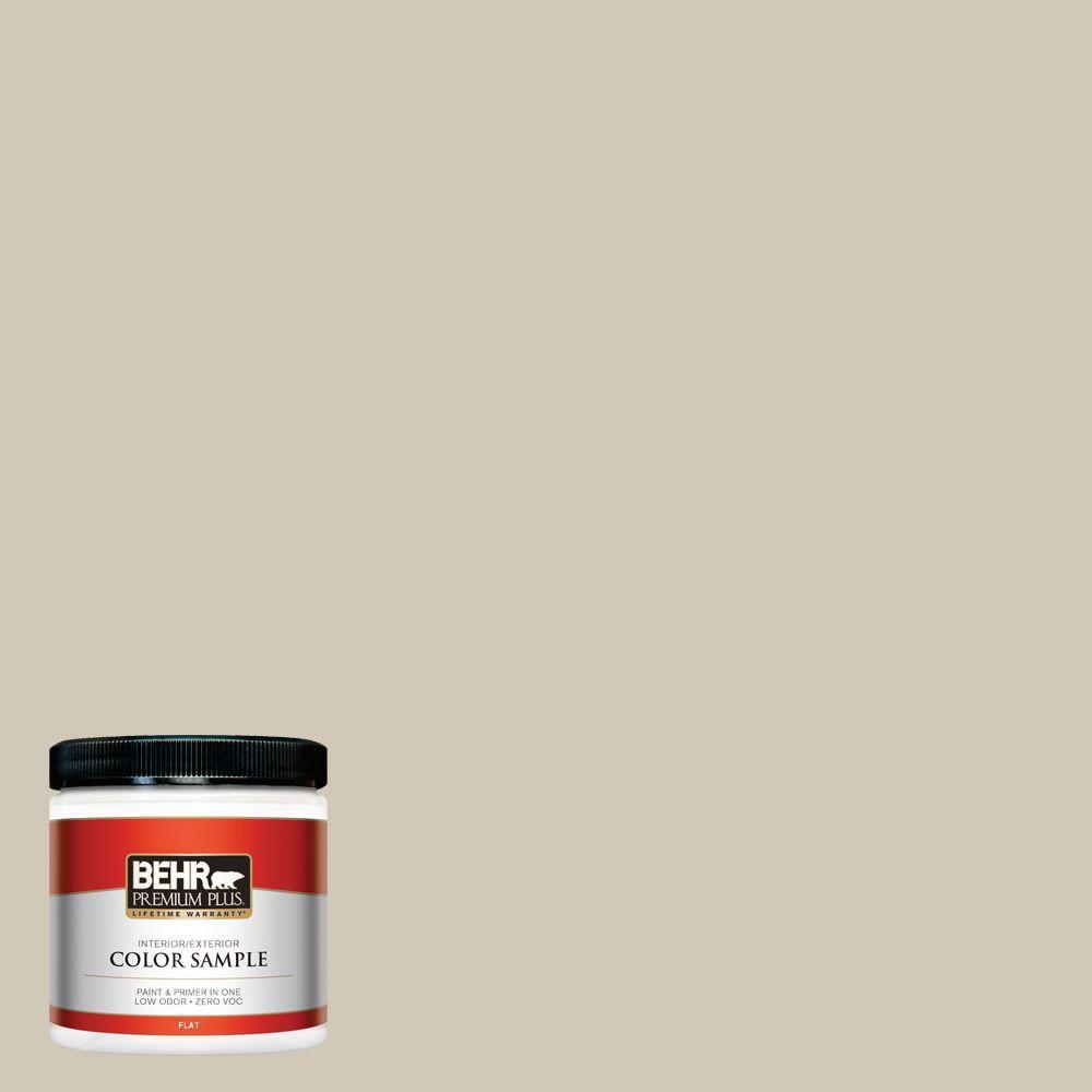 8 oz. #750C-3 Sandstone Cliff Flat Zero VOC Interior/Exterior Paint and