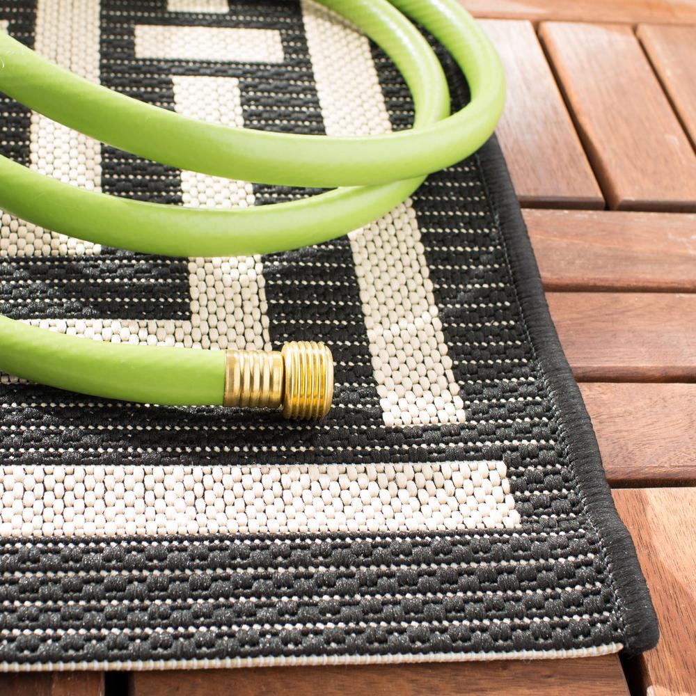 Safavieh Courtyard Black Bone 2 Ft X 8 Ft Indoor Outdoor Runner Rug Cy6937 26 28 The Home Depot