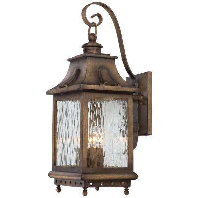 Wilshire Park 4-Light Portsmouth Bronze Outdoor Wall Mount Lantern